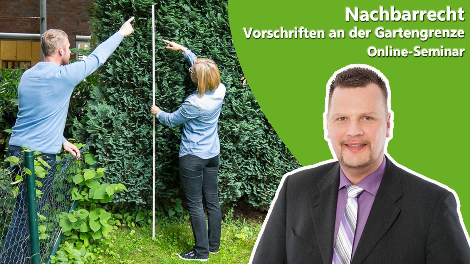 Referent Stephan Dingler als Ankündigung für das Online-Seminar Nachbarrecht
