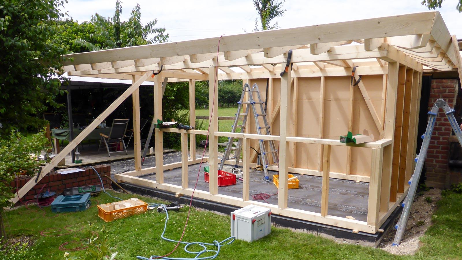 Bau eines Gartenhauses